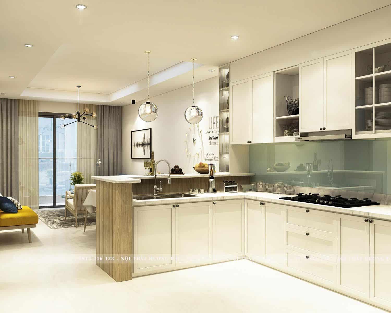 Phòng bếp chung cư đơn giản, nhỏ gọn nhưng rất tiện nghi