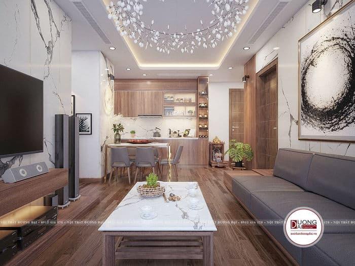 Tủ bếp nhỏ nhưng rất bền cho căn hộ chung cư