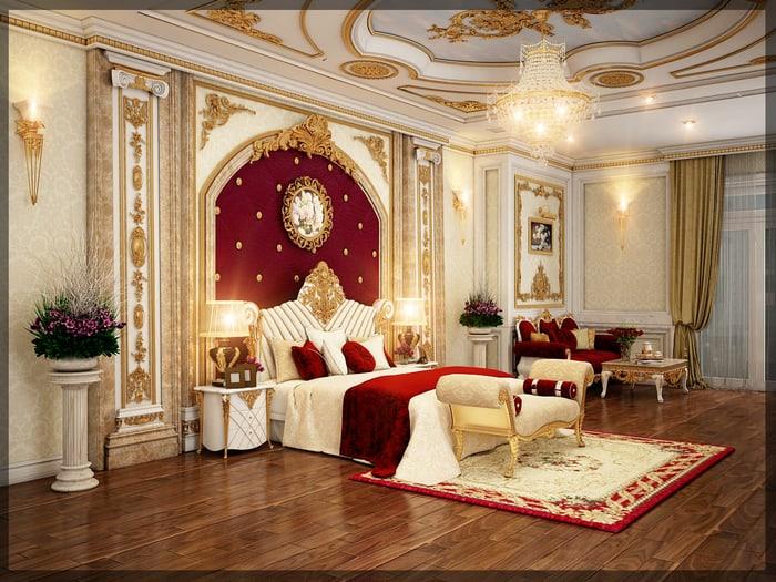 Thiết kế phòng ngủ có sofa sang trọng với nét đẹp cổ điển