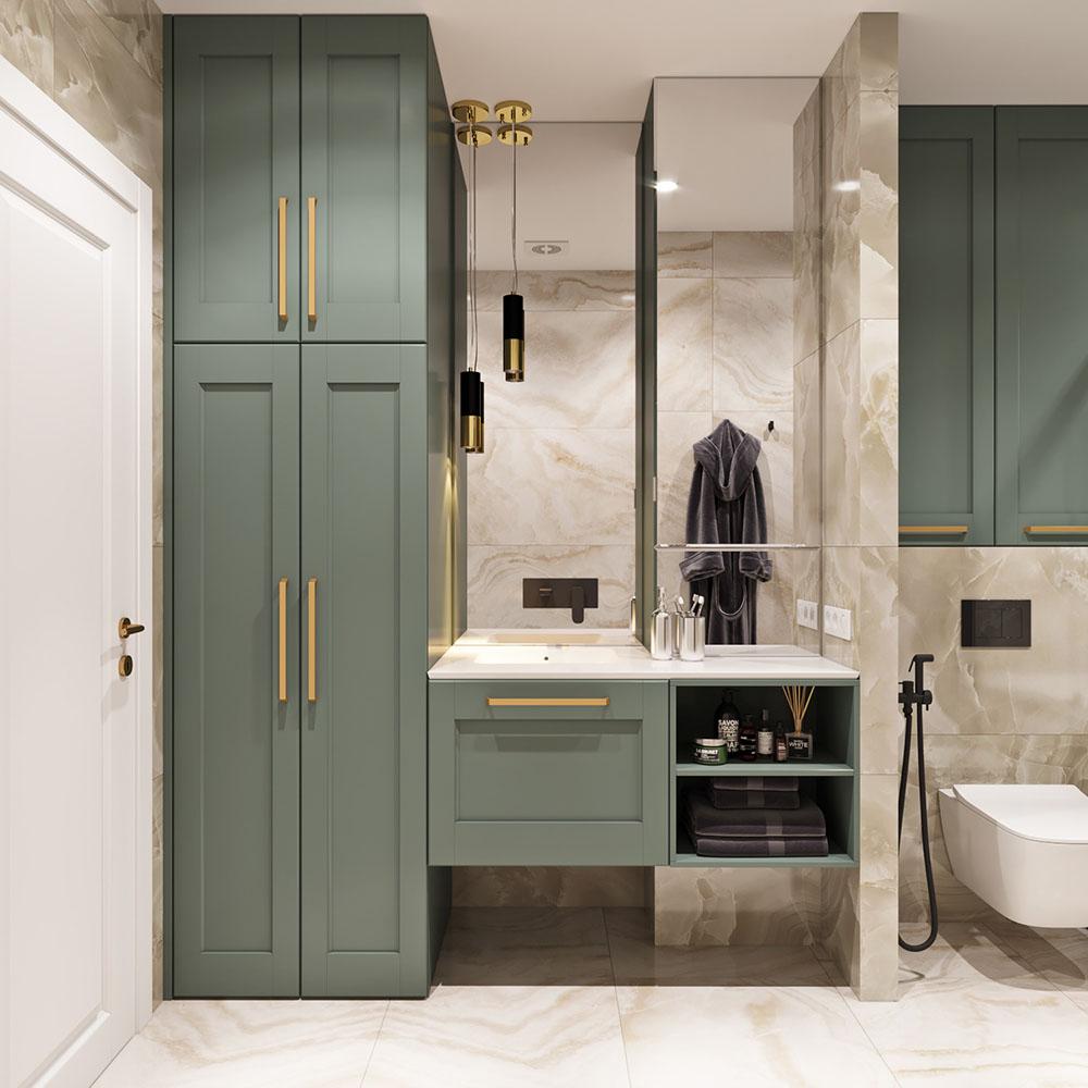 Tủ đồ lớn cho gia chủ sử dụng ngay trong nhà tắm