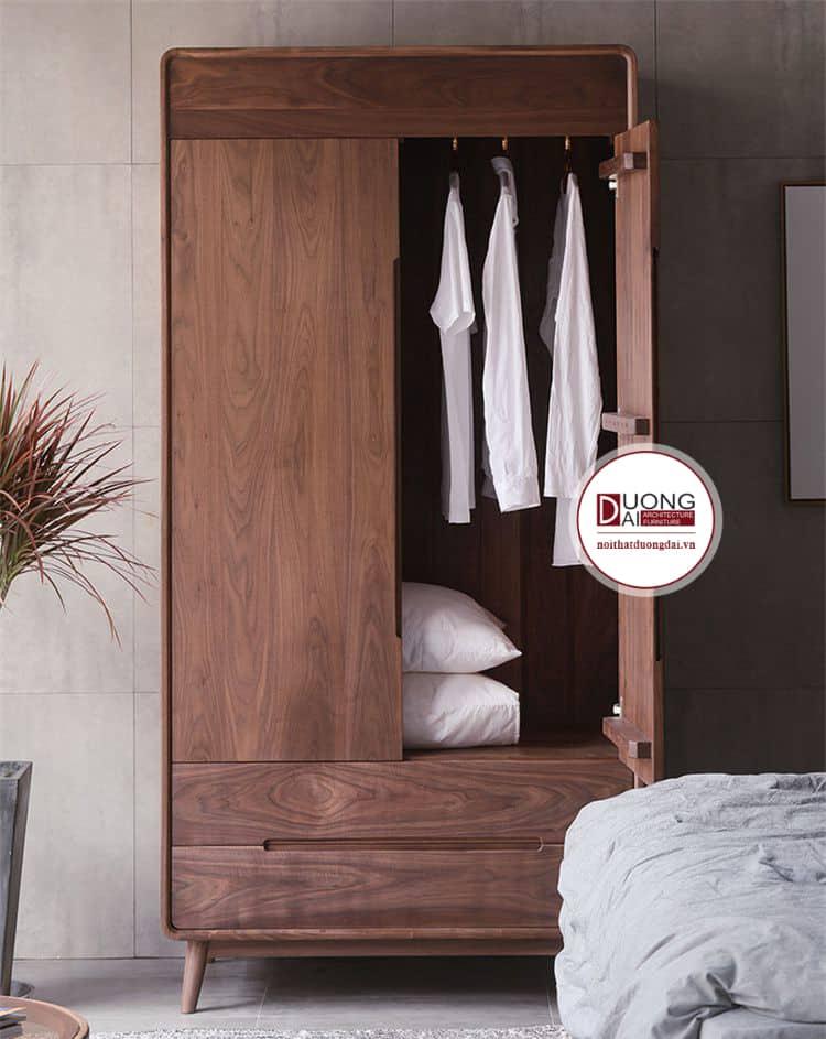 Tủ quần áo 2 cánh nhỏ gọn cho phòng ngủ nhỏ hẹp