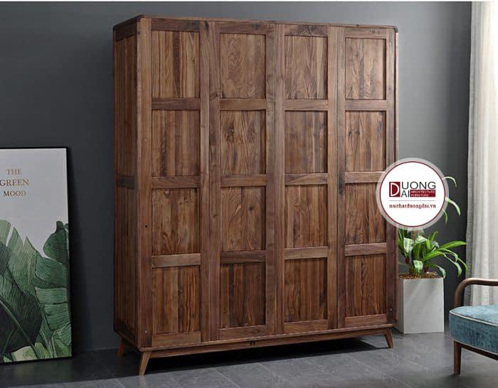 Tủ quần áo làm từ gỗ óc chó phong cách truyền thống