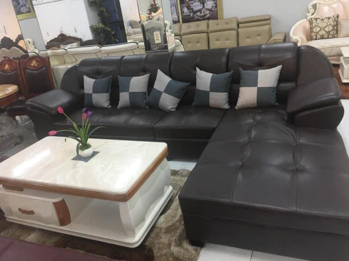 Ghế Sofa Da Màu Đen | Bàn Giao Cho Anh Thịnh Ở Hưng Yên