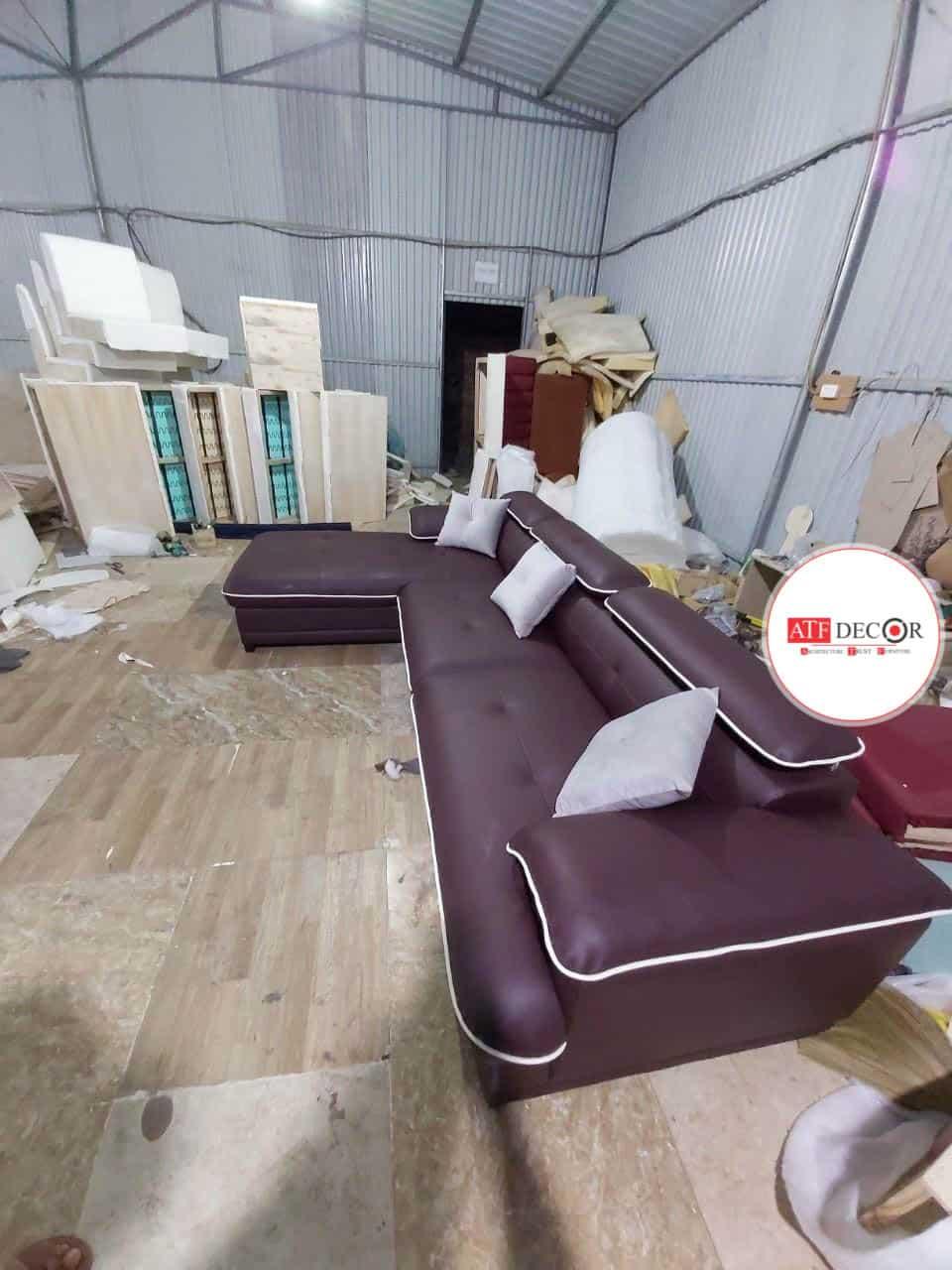 Sofa Da Màu Tím |Bàn Giao Cho Đối Tác Công Ty Thiết Kế Nội Thất
