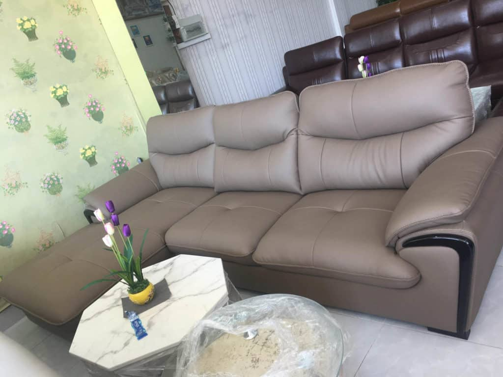 Sofa Da Màu Xám Hiện Đại | Bàn Giao Cho Chú Thanh Ở Bắc Ninh