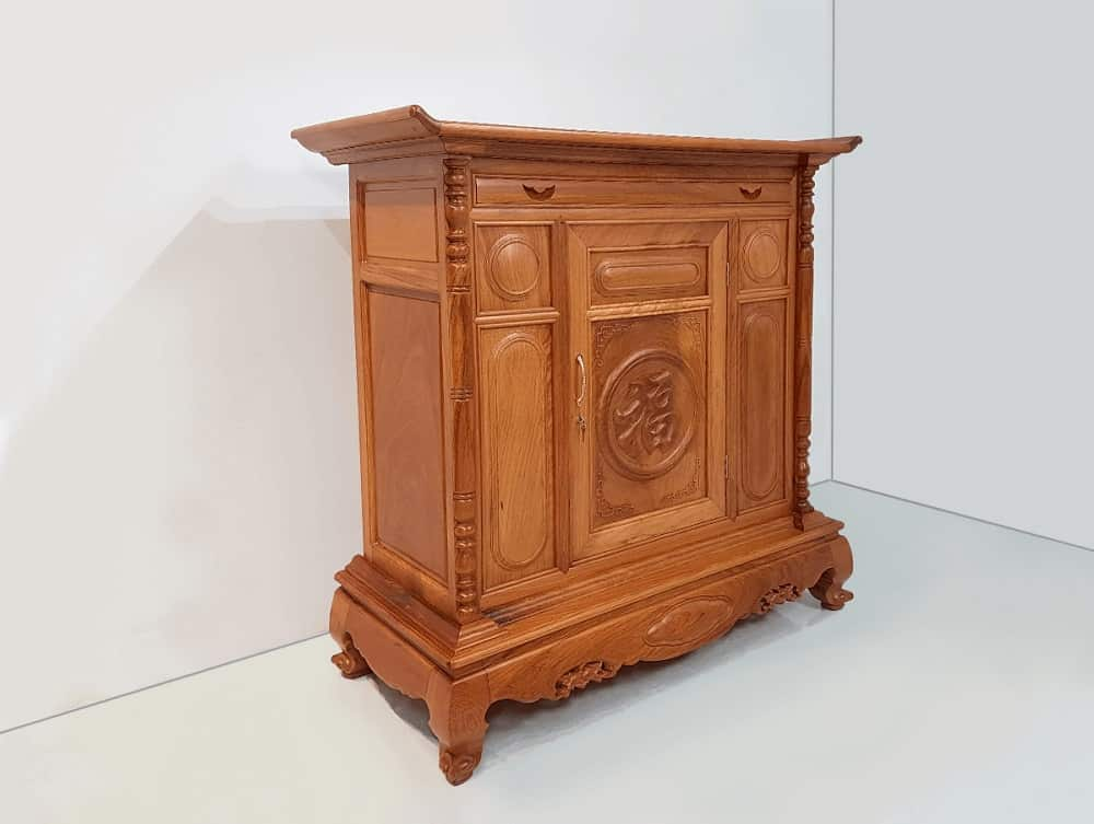 Mẫu tủ thờ chữ Tâm đẹp và nhỏ gọn