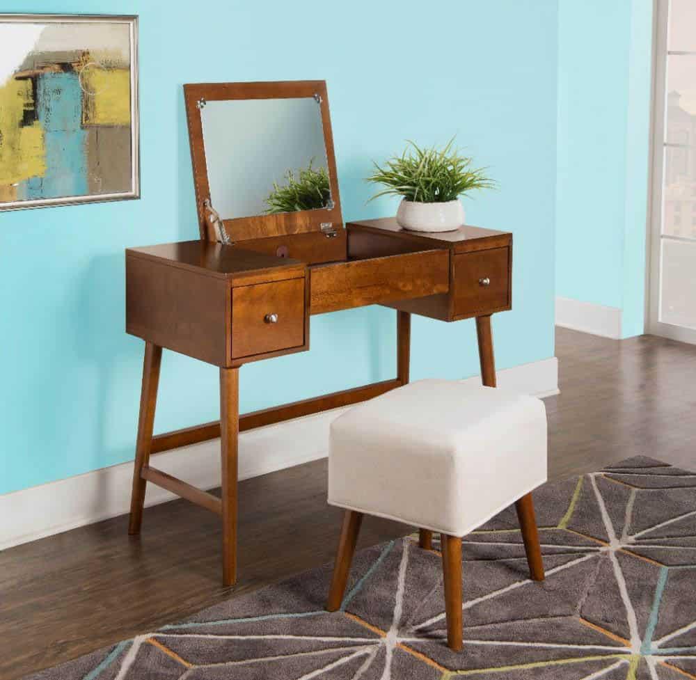 Thiết kế bàn trang điểm đẹp từ gỗ tự nhiên