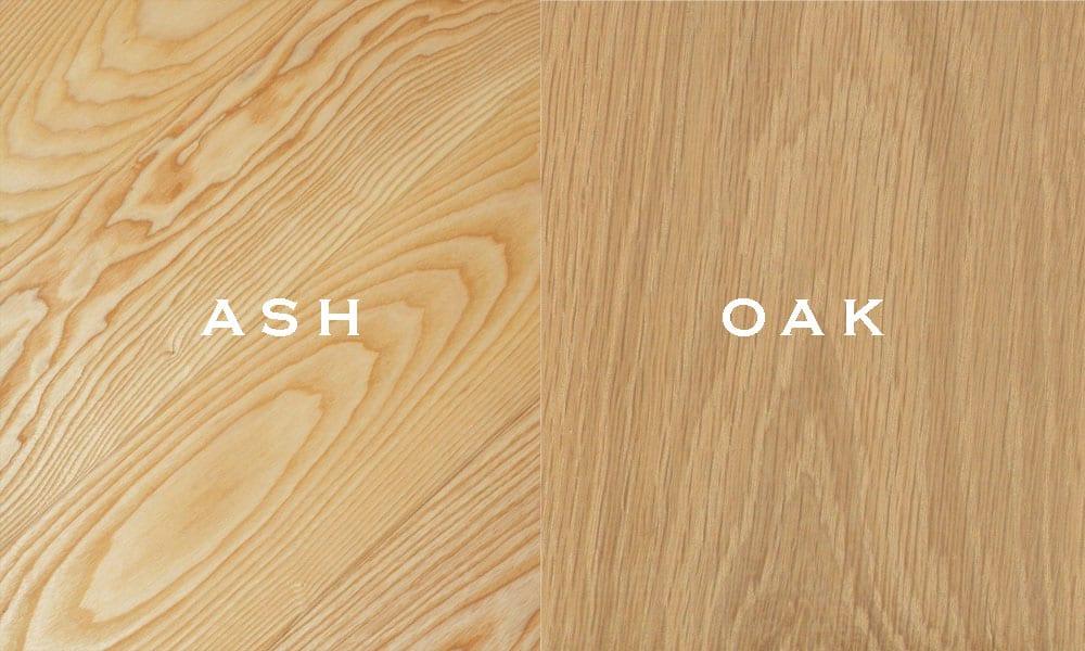 Gỗ sồi và gỗ ASH là hai loại gỗ khác nhau