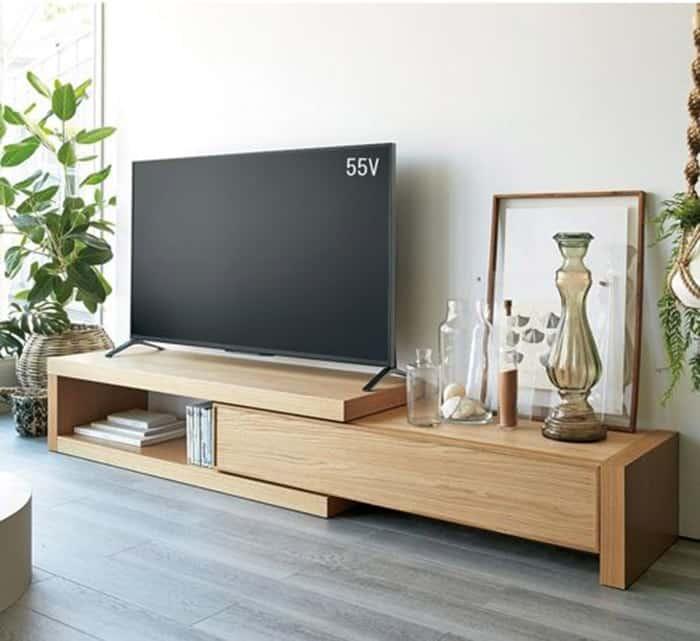 Mẫu kệ tivi làm từ gỗ tần bì rất sáng tạo