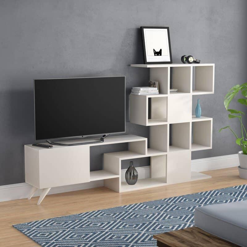 Thiết kế kệ tivi mở đầy độc đáo và phá cách