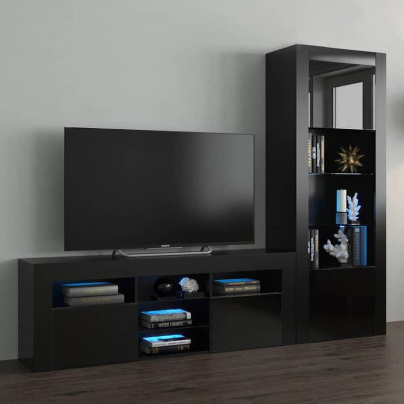 Thiết kế kệ tivi nhỏ màu đen cuốn hút và cá tính