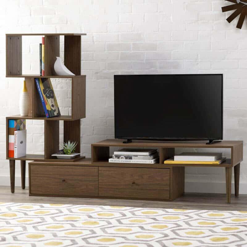 Kệ Tivi Kết Hợp Giá Sách | BST 15+ Mẫu Kệ TiVi Độc Đáo Nhất
