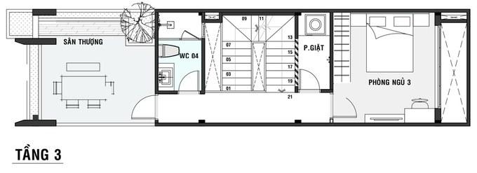 thiết kế nhà 4x20