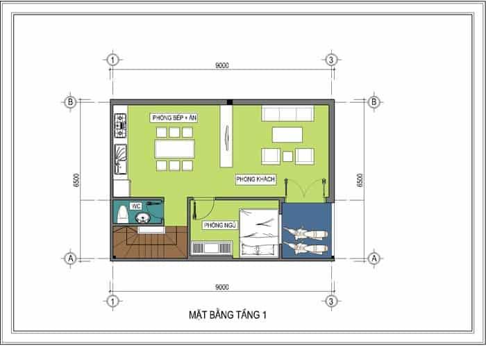 thiết kế nhà 6.5x10