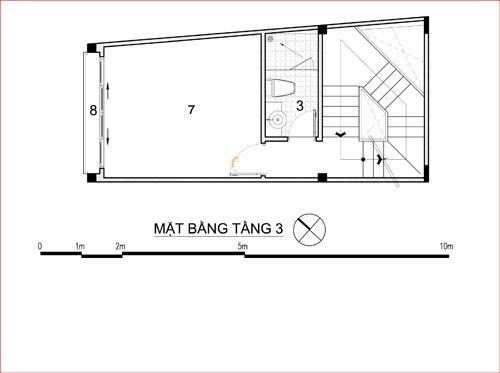 thiết kế nhà rộng 3m dài 10m