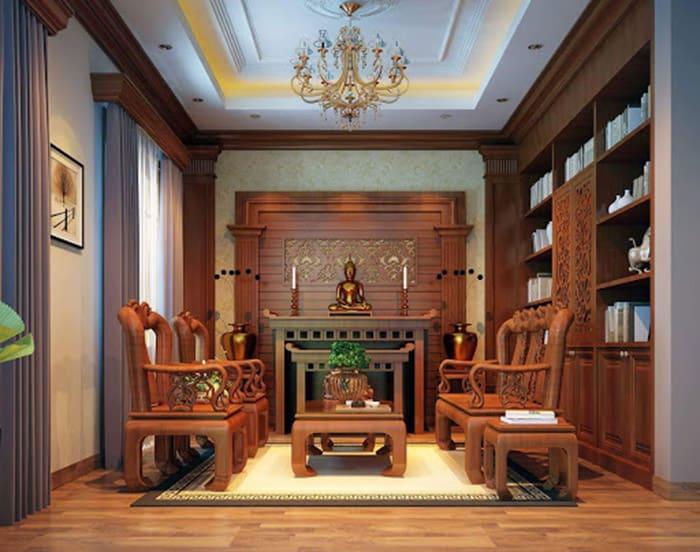 Bộ bàn ghế phòng khách gõ đỏ hình rồng phượng siêu đẹp
