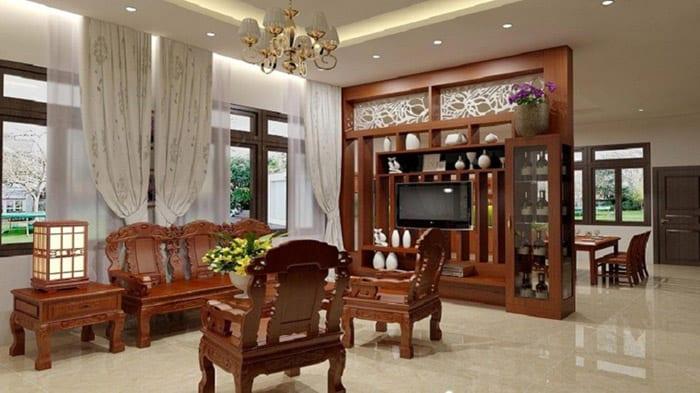 Thiết kế nội thất phòng khách siêu ấn tượng và trang nhã