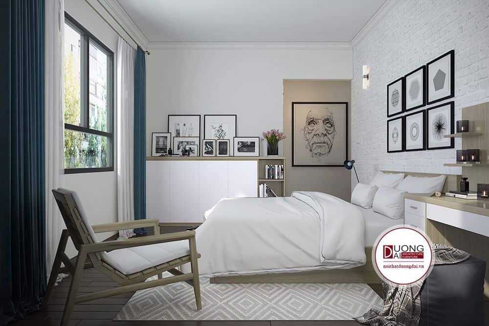 Nội thất gỗ tự nhiên giúp phòng ngủ thực sự thư giãn