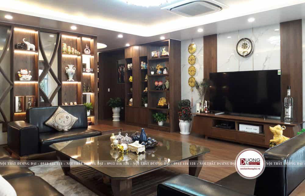 Thiết kế kệ tivi và kệ trang trí gỗ siêu đẹp