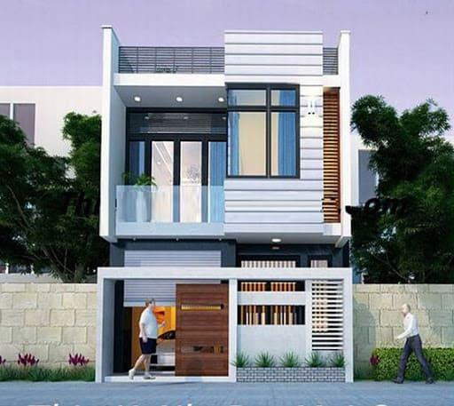 thiết kế nhà 2 tầng 7x9m