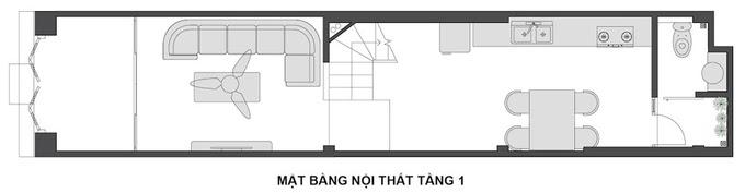 thiết kế nhà 3x14m