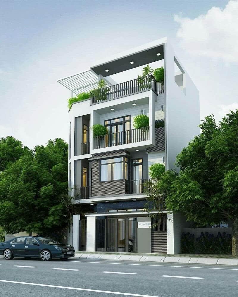 Thiết kế nhà mặt tiền 9m sâu 5m kiến trúc hiện đại