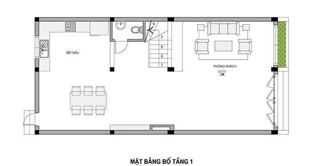 thiết kế nhà ngang 6m dài 12m
