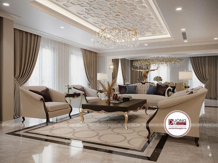 Thiết kế căn hộ tân cổ điển đẹp nguy nga và đẳng cấp