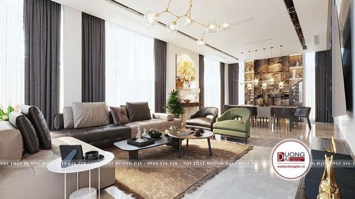 Sofa màu xanh lá cây, màu đen sẽ tốt cho người sinh năm 1981