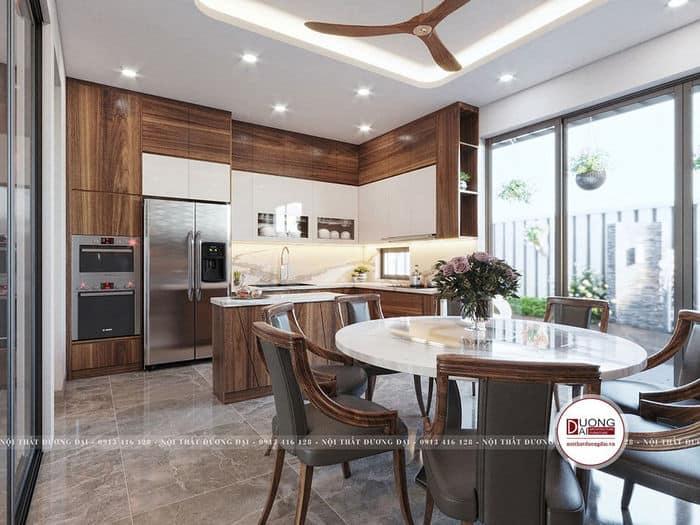 Phòng bếp nên được thiết kế thông thoáng và sạch sẽ
