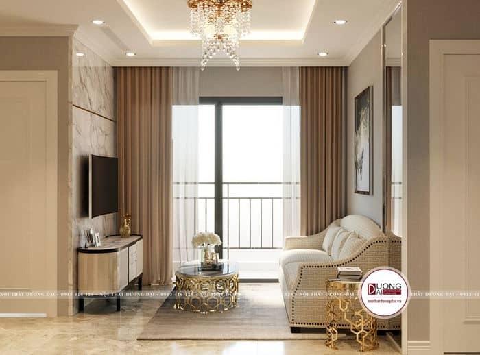Không gian mở cho căn phòng khách chung cư nhỏ 9m2