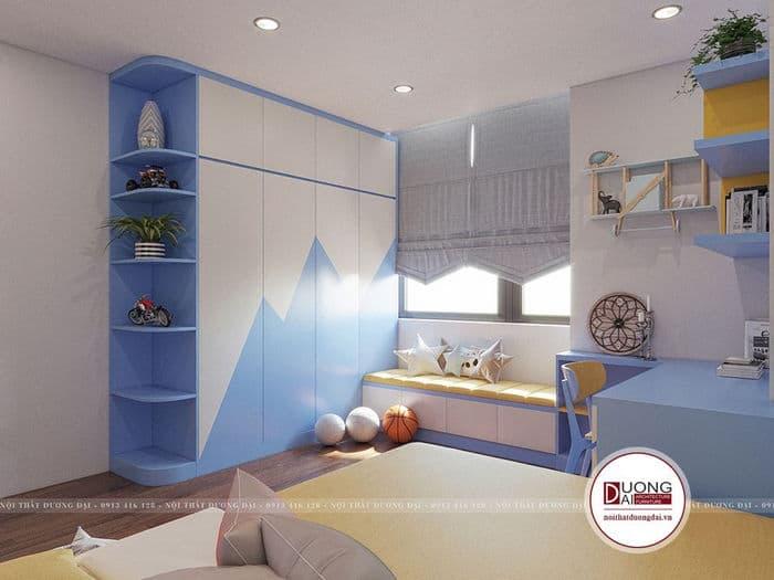 Không gian mở sẽ giúp bé có tinh thần học tập và tốt cho sức khỏe