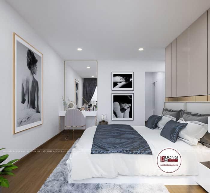 Phòng ngủ master trao ảnh nghệ thuật đầy cá tính