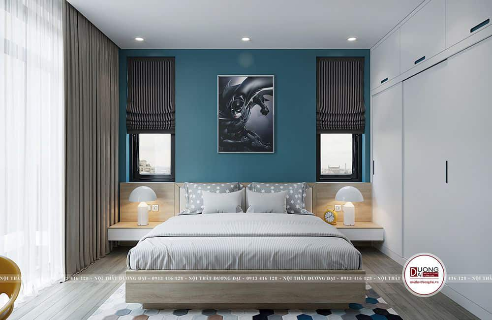 Thiết kế nội thất gỗ óc chó biệt thự Sơn La cao cấp