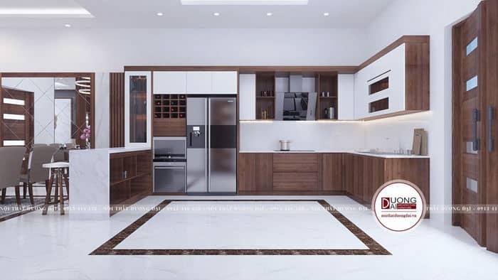 Tủ bếp đẹp với các bố trí tiện nghi, đầy đủ công năng