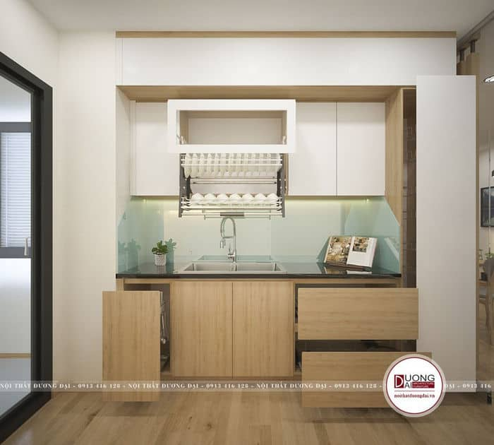 Thiết kế phòng bếp 10m2 hiện đại tiện nghi cho chung cư nhỏ