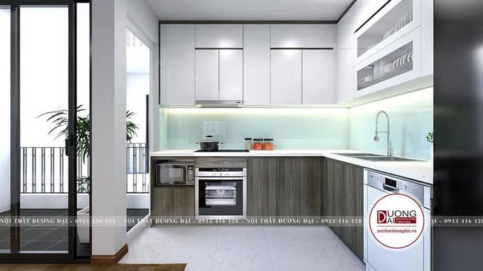 Tủ bếp nên sử dụng loại gỗ chống ẩm để hạn chế tủ bếp nhanh hỏng