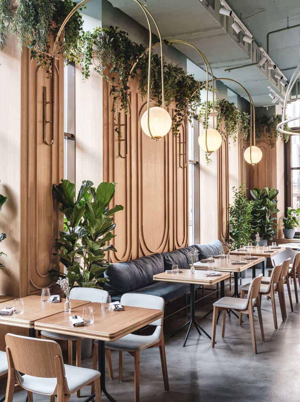 Mẫu thiết kế quán cafe lãng mạn theo phong cách Tropical