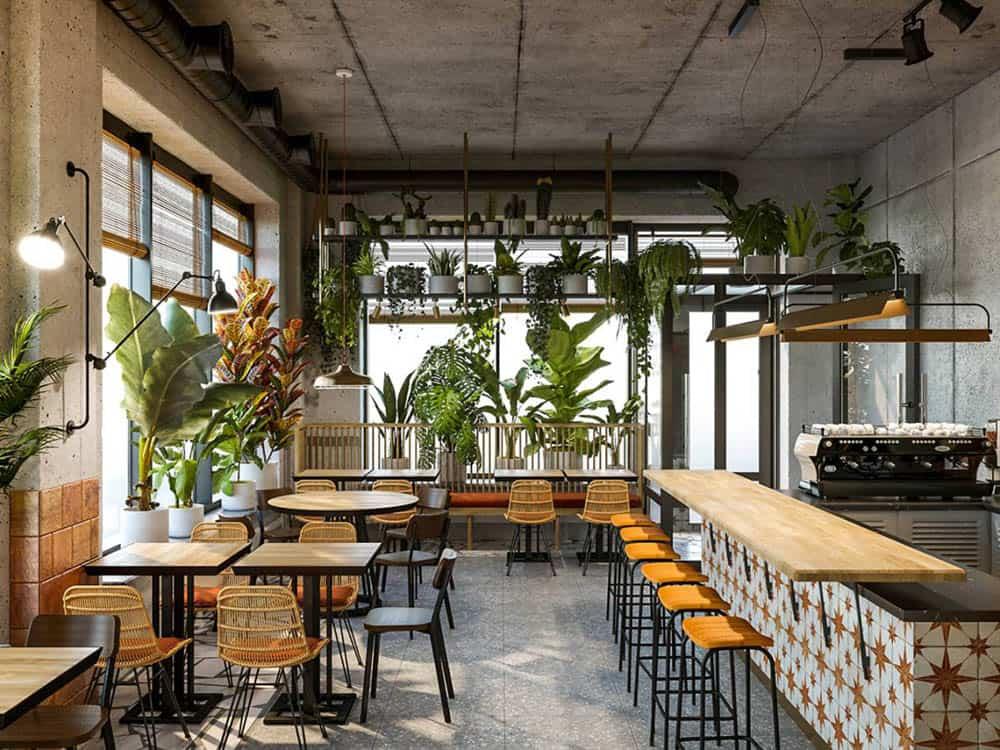 Thiết kế nội thất cà phê hiện đại với diện tích hơn 30m2