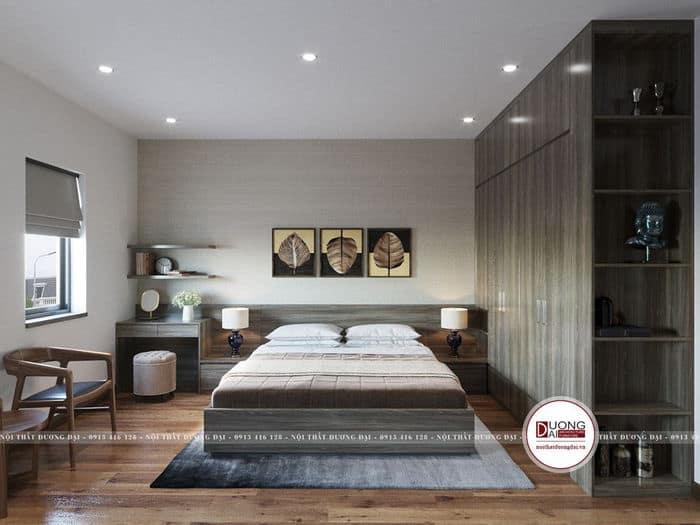 Căn phòng sử dụng cửa đơn nhỏ gọn lấy ánh sáng tự nhiên