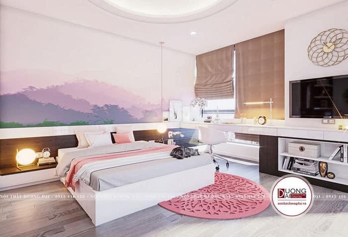 Thiết kế phòng ngủ dành cho con gái theo sở thích