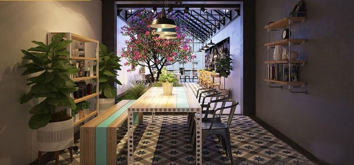 Quán cafe nhỏ hẹp được thiết kế độc đáo và cá tính