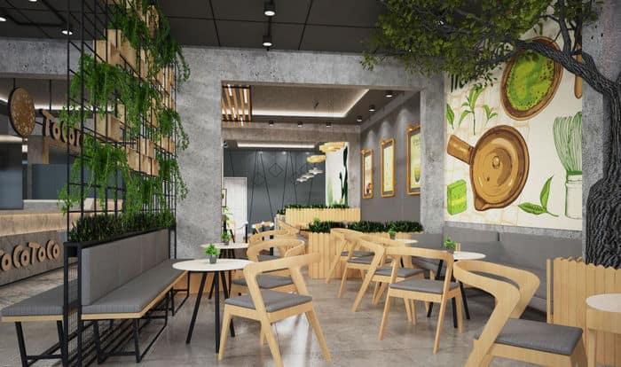 Quán cafe diện tích nhỏ với cách bài trí bàn ghế thông minh