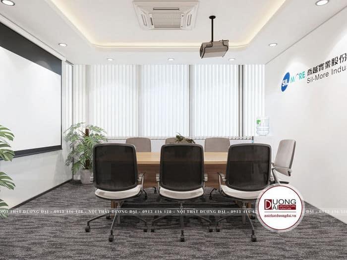 Không gian phòng họp nhỏ gọn nhưng hiện đại và sang trọng
