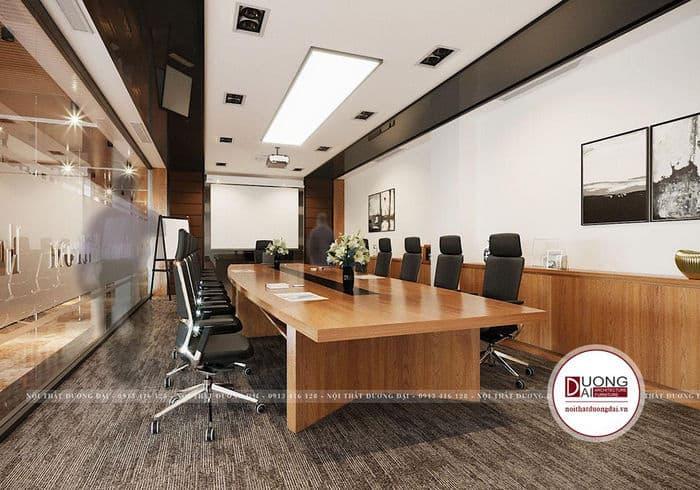 Khu vực phòng họp của văn phòng được thiết kế tiện nghi