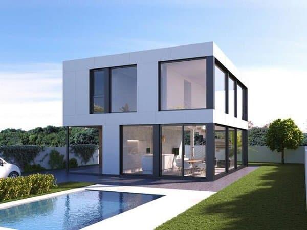 thiết kế nhà vuông 2 tầng