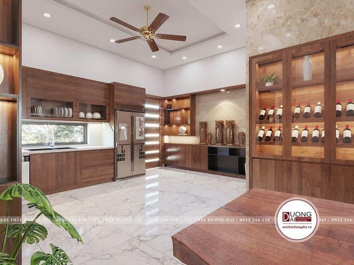 Nội thất phòng bếp gỗ tự nhiên đẹp và đẳng cấp
