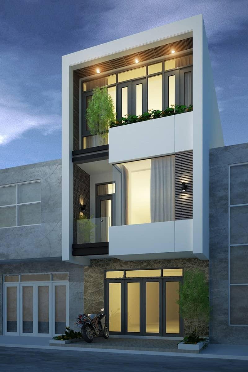 Tư vấn mẫu thiết kế nhà 6x10m 3 tầng ấn tượng và sang trọng