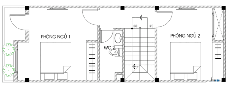 thiết kế nhà 4x14m