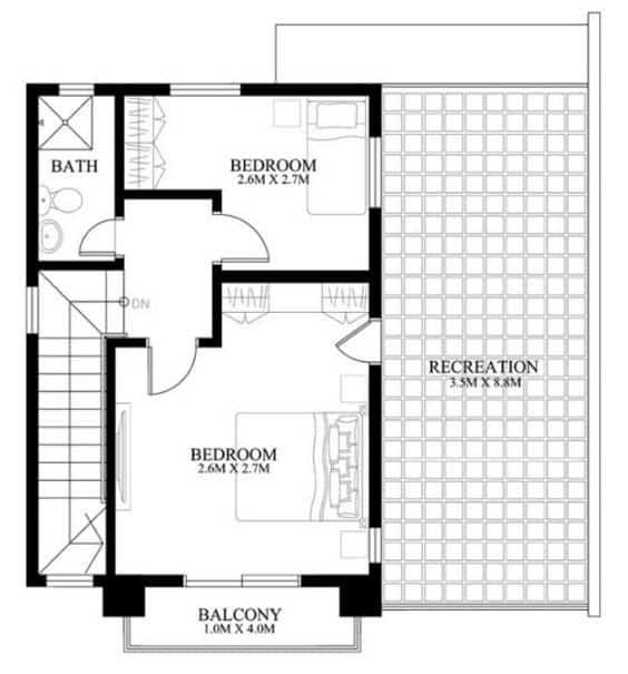 thiết kế nhà diện tích 8x8m 2 tầng
